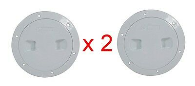 "Standard Inspection Ports ABS Plastic - 6"" White x 2"