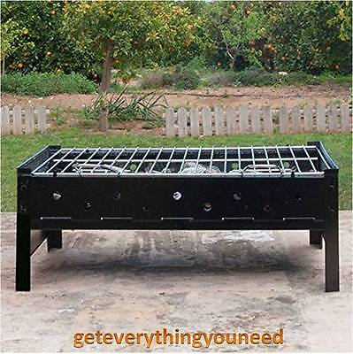 Charcoal Barbecue Fire Pit Table Top Portable Grill Coal Outdoor Camping Garden