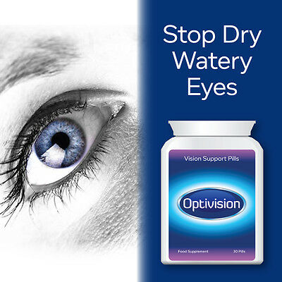 Optivision Vision Support Pills Eye Tablets Helps Eye Health Improve Vision Fast