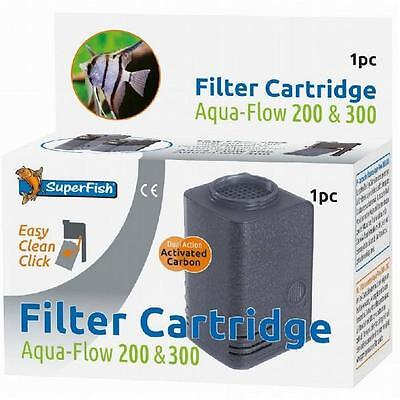Superfish Aqua Flow 200 300 Easy Click Carbon Dual Action Filter Cartridge 1pc