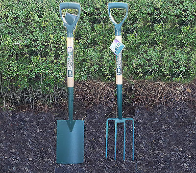2 For 1 Spear And Jackson County Pressed Steel Digging Spade Fork Garden Tools