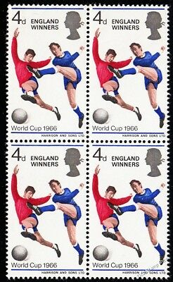 1966 Football World Cup Winners Stamp Block of 4 Unmounted Mint SPECIAL OFFER