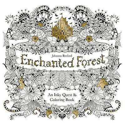 NEW - Enchanted Forest: An Inky Quest and Colouring Book (PB) 9781780674872)