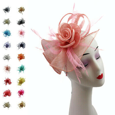 Ladies Women Sinamay Wedding Race Occasion Headband Clip Flower Hat Fascinator
