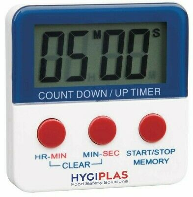 Hygiplas Professional Digital Kitchen Timer Count down or Countup Alarm Magnetic