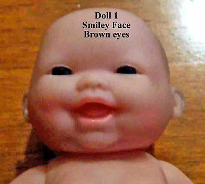 "5"" Inch Baby Doll Berenguer Brown EYES Smiley Face Lot of Love Fast Shipping!"