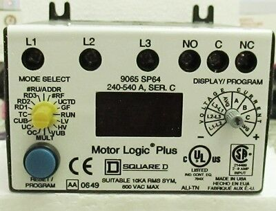 Square D 9065Sp64 : Solid State Overload Relay 480Vac 540A  New