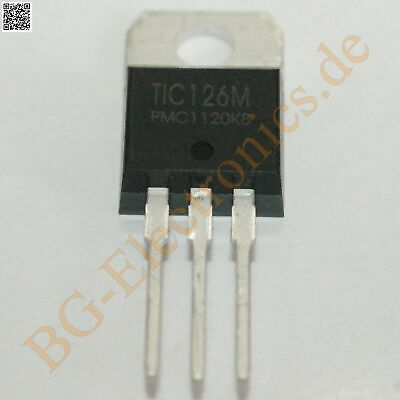 1 x TIC126M Triac 600V 12A 5W  PMC TO-220 1pcs