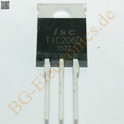 2 x TIC206D TRIAC 4A 600V 1.3W  ISC TO-220 2pcs