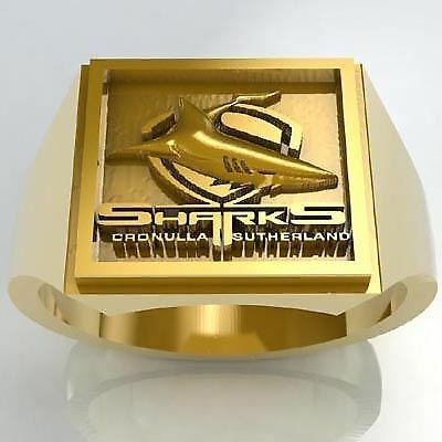 Cronulla Sharks 18ct Gold Ring