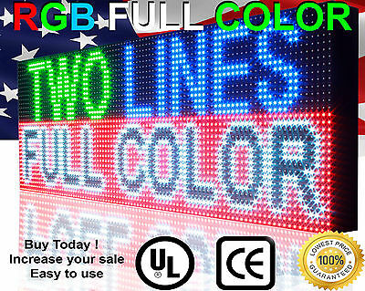 """SEMI- outdoor 38""""X13"""" Programmable led sign full color High Res P10 MM display"""