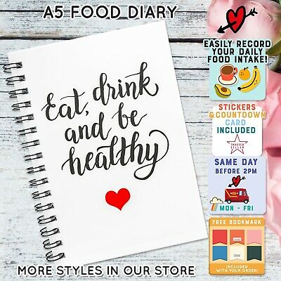 Diet Food Diary Slimming World Compatible  Log Weight Loss Tracker Planner C2v4