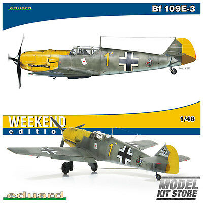 Bf 109E-3 - 1/48 Weekend Edition Eduard Aircraft Model Kit #84165