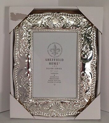 "Sheffield Home 4""x6"" Silver Plated Tabletop Picture Photo Frame NEW"