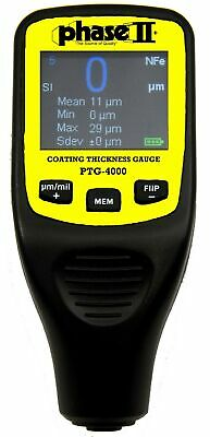 Phase II Coating Thickness Gauge With Colour Flip Display, Auto-Detect, PTG-4000