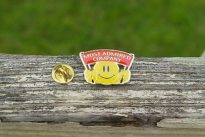 Wal-Mart Most Admired Company Smiley Face Metal Enamel Employee Pin Pinback
