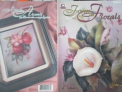 Focus On Florals Painting Book-Jan Lawson-Lilies/Poppies/Lilacs/Iris/Anemones/Ro