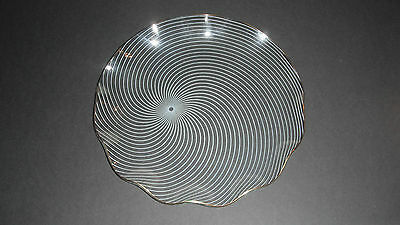 FLUTED CHANCE GLASS RETRO SWIRL PLATE c1960's