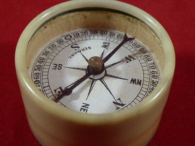 RARE ANTIQUE GERMAN COMPASS AND THREE DICE – MAGNETIC INSTRUMENT c1900