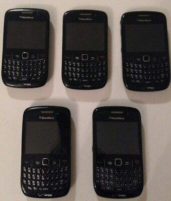 Lot of 10 BlackBerry Curve 8530 - Black (Verizon) Smartphone GOOD CONDITION