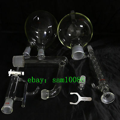 Essential oil steam distillation kit,Allihn Condenser,All Glassware,S35 Clip,Lab