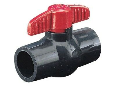 """PVC Ball Valve 1-1/2"""" inch Socket Compact Molded In Place MIP LD BRAND"""