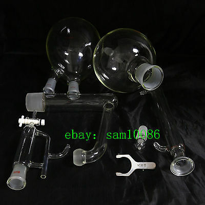 Essential oil steam distillation kit,Liebig Condenser,All Glassware,S35 Clip,Lab