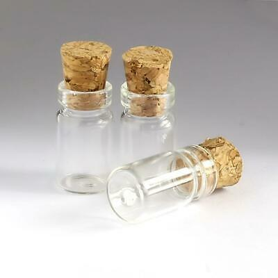 50pcs 0.5ml 11*18mm Small Mini Glass bottles Vials Jars with Cork Stoppers