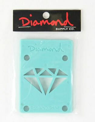 "Diamond 1/8"" Riser Pad Set of 2 Blue for Skateboard Longboard"