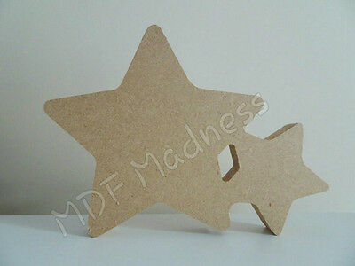 Free Standing Craft Shape. Mdf Wooden Double Star
