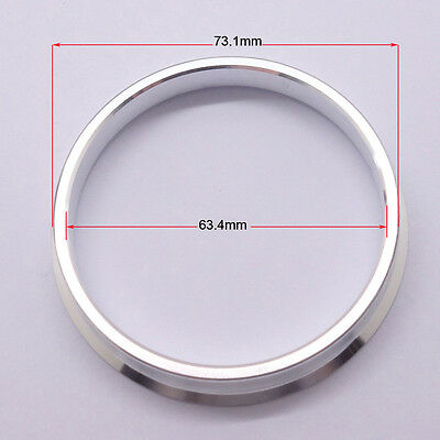 4pcs High Quality Aluminum Alloy Wheel Spacer Hub Centric Rings 73.1OD to 63.4ID