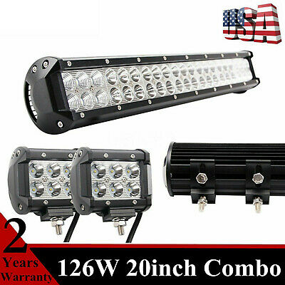 20in 126w cree led light bar offroad tractor suv car atv ute 4wd 20in 126w cree led light bar offroad tractor suv car atv ute 4wd truck aloadofball
