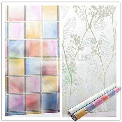 1pc Home Window Door Toilet Decor Frosted Glass Privacy Stickers Film 45cm X 2m