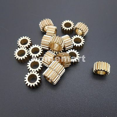 20PCS 165A Brass Gear 0.5 Modulus T=16 Aperture 5mm Model Accessories 16T Metal