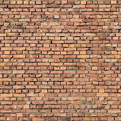 196 X 90 X 1Mm O/s Scale Brick Wall Treated Paper Sheets Embossed 3D