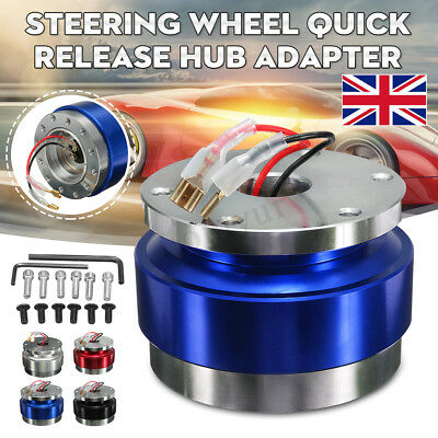 Universal Steering Wheel Quick Release Hub Adapter Snap Off Boss Kit 6 Blue
