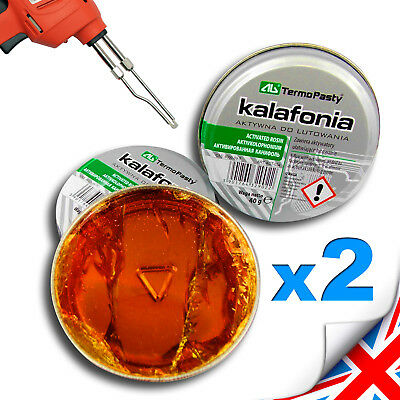 2 x 40g FLUX, ROSIN  for electronics SMD  solder flux COLOPHONY -HIGH Purity