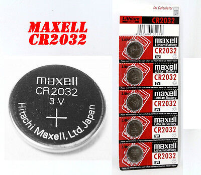 Genuine 2 x Maxell Battery CR2032 Lithium 3V Cell Coin Button Batteries UK SELL