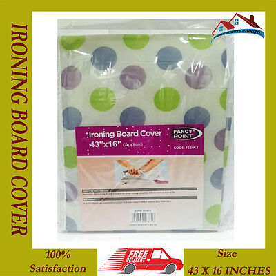 New Ironing Board Cover Foam Backing Table Iron Easy Fit Cord Fastener Washable