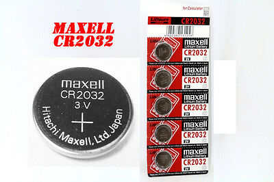 5, 10, 15, 20 Genuine Maxell Battery CR2032 Lithium Watch Cell 3v Button/Cell