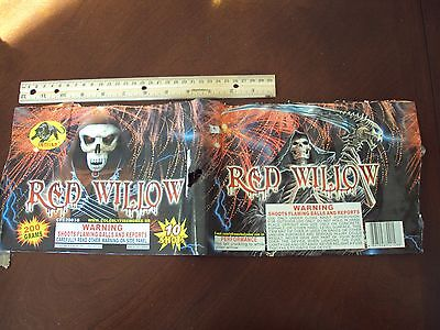 Red Willow Fireworks Label By Jaguar Original Cake Great Art Collectible Skull