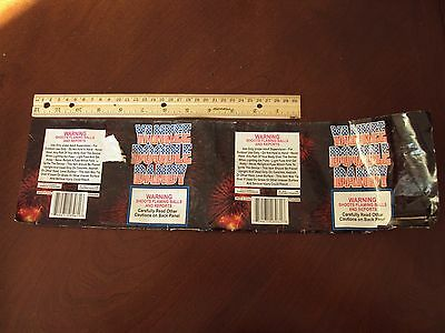 Yankee Doodle Dandy Fireworks Cake Label ~ Original ~ Great Art Collectible
