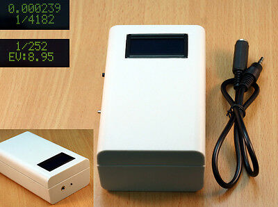 Camera shutter tester and EV tester for shutter speeds up to 1/4000th