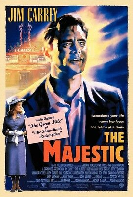 THE MAJESTIC MOVIE POSTER 2 Sided ORIGINAL FINAL 27x40 JIM CARREY