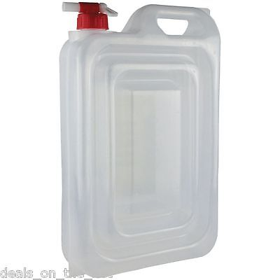 2 X Yellowstone 15L Expandable Collapsible Folding Water Carrier Can Bottle Tap