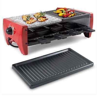Set Grill Barbecue Raclette Gourmet Pietra Ollare Grill Party 8 Persone Princess