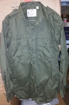 Australian Army Green Shirt Vietnam War - New Made Reproduction 100% Cotton