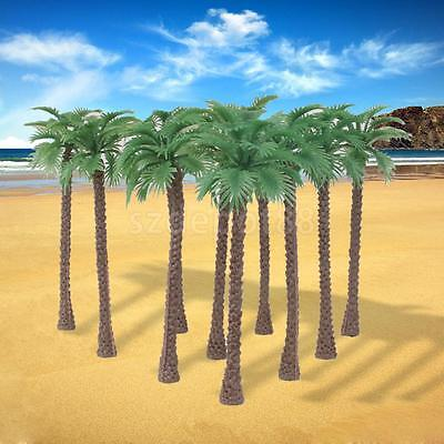 10 Tropical Palm Tree Model Train Railroad Wargame Scenery Layout 1:100 11cm