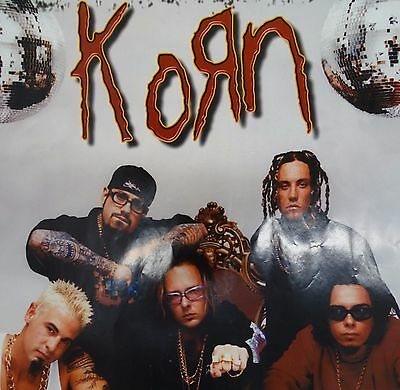 Original 1998 KORN Poster  Funky 34 1/2in by 22in