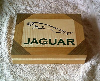 Jaguar Logo -Solid Wood Box